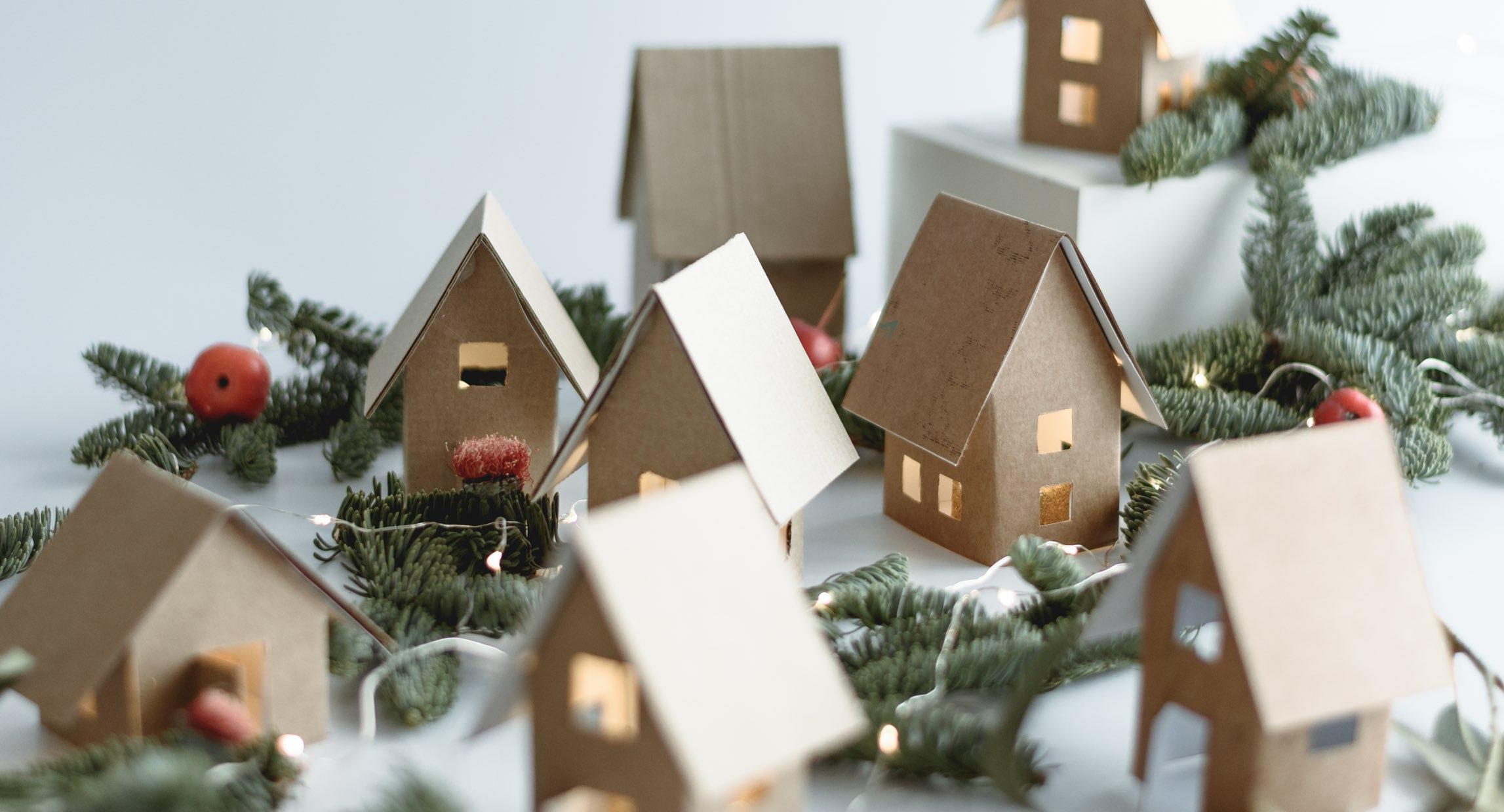 Christmas landscape closing