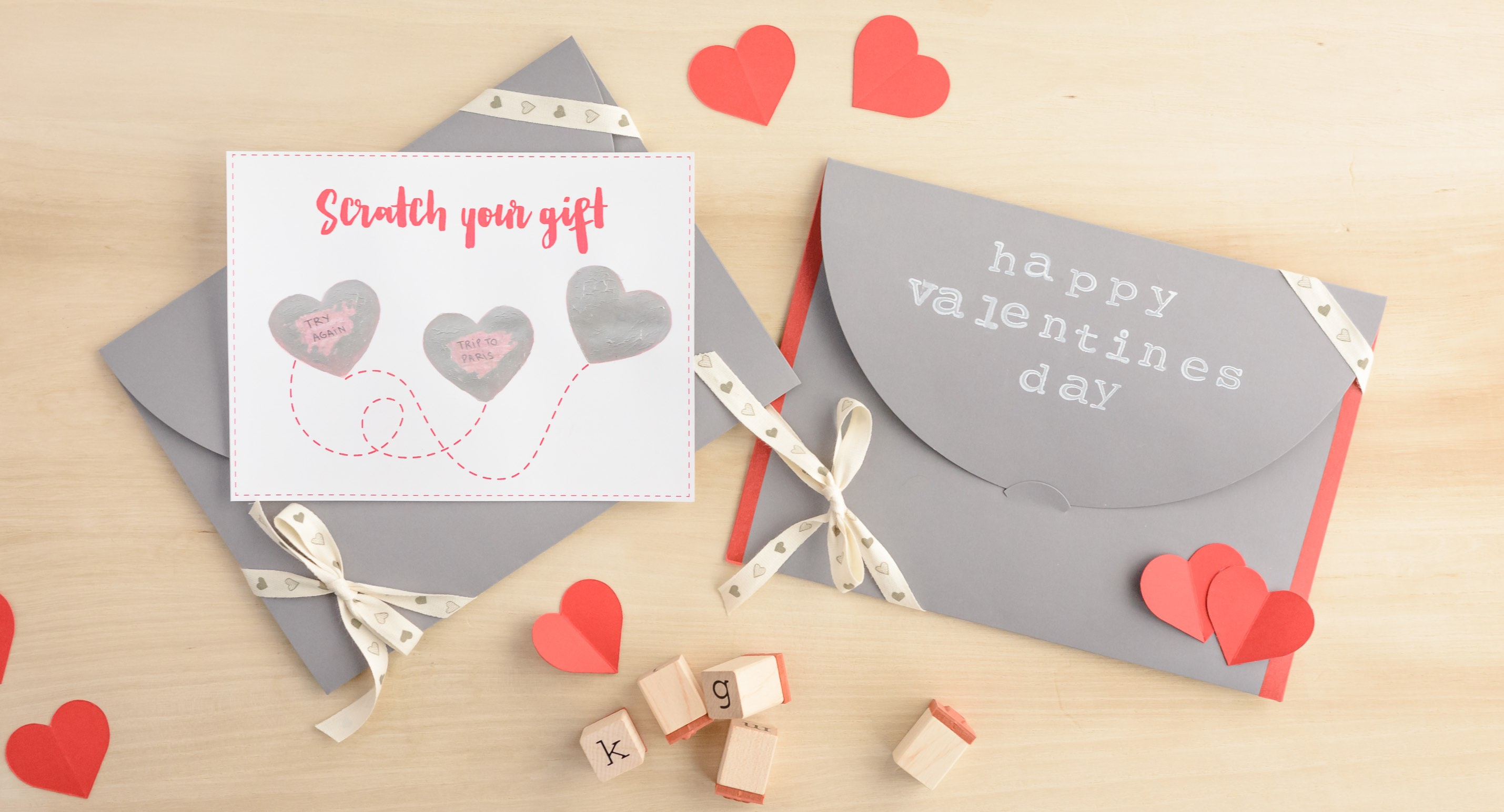 DIY Scratch card for Valentine's day