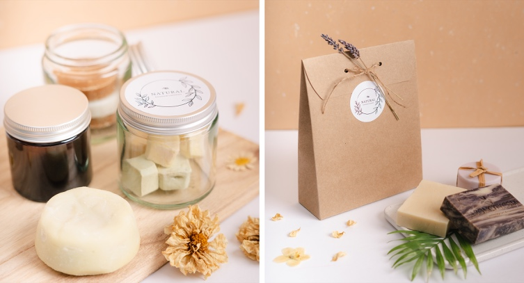 Natural packaging for handcrafted soap