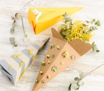 cone shaped box for flowers
