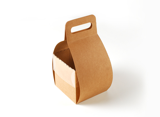 Cake box with hanger and lid