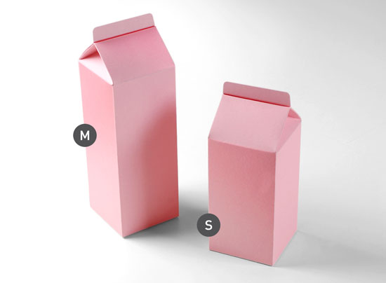 Milk carton - shaped gift boxes