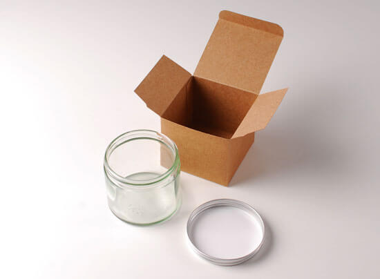 Glass pot 250ml for scented candles or creams