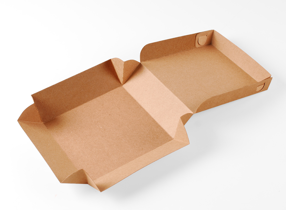 Square cardboard box for sushi